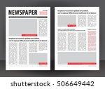 vector empty newspaper print... | Shutterstock .eps vector #506649442
