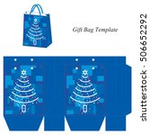 christmas gift bag template ... | Shutterstock .eps vector #506652292