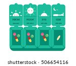 a box of medicine vector... | Shutterstock .eps vector #506654116