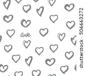 background hearts. great for... | Shutterstock .eps vector #506663272