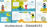 vector photo book with cartoon... | Shutterstock .eps vector #506668192