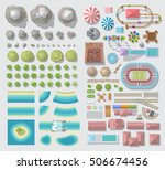 set of landscape elements.... | Shutterstock .eps vector #506674456