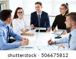 business people having a... | Shutterstock . vector #506675812