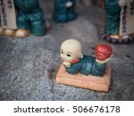 little monk figurines at... | Shutterstock . vector #506676178
