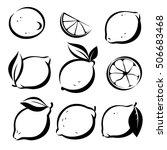 set of lemons and lime vector... | Shutterstock .eps vector #506683468