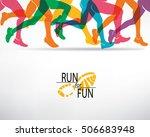 running people set of... | Shutterstock .eps vector #506683948
