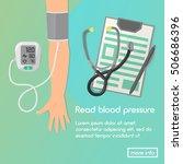 blood pressure vector... | Shutterstock .eps vector #506686396