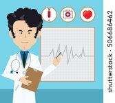 professional doctor man... | Shutterstock .eps vector #506686462