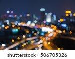 night blurred lights city... | Shutterstock . vector #506705326