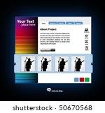 business web site design... | Shutterstock .eps vector #50670568