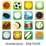 set of a sport icons | Shutterstock .eps vector #50671039