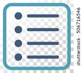 items cyan and blue vector icon....