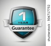 shield with a guarantee one... | Shutterstock .eps vector #506717752