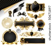 gold   black collection of... | Shutterstock . vector #50671897