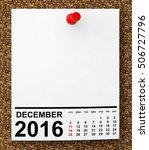 calendar december 2016 on blank