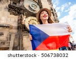 Young Female Tourist With Czec...