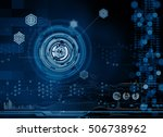 abstract tech design | Shutterstock . vector #506738962