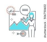 color line  seminar... | Shutterstock .eps vector #506750602