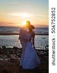 love story couple wedding on... | Shutterstock . vector #506752852