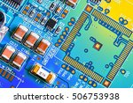 electronic circuit board close... | Shutterstock . vector #506753938