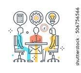 color line  meeting concept... | Shutterstock .eps vector #506756566