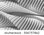 3d abstract curved lines... | Shutterstock . vector #506757862