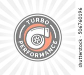 turbo performance icon badge... | Shutterstock .eps vector #506760196