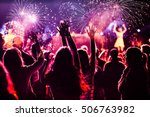 new year concept   cheering... | Shutterstock . vector #506763982