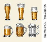 set of vector icons  full glass ... | Shutterstock .eps vector #506780095