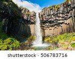 svartifoss waterfall with... | Shutterstock . vector #506783716