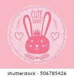 cute bunny illustration for... | Shutterstock .eps vector #506785426