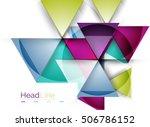 modern business triangle... | Shutterstock . vector #506786152