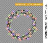 garlands  christmas decorations ... | Shutterstock .eps vector #506794216