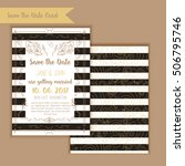 printable save the date with... | Shutterstock .eps vector #506795746