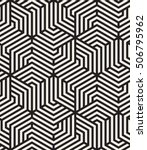 Vector seamless pattern. Modern monochrome texture. Repeating abstract background. Trendy design with geometric shapes. Stylish hipster print which can be used for cover, card, stencil etc | Shutterstock vector #506795962