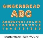 gingerbread abc. christmas... | Shutterstock .eps vector #506797972