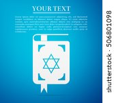 jewish torah book flat icon on... | Shutterstock .eps vector #506801098