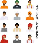 different indian people... | Shutterstock .eps vector #506810932