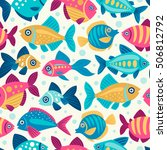 seamless pattern with... | Shutterstock .eps vector #506812792