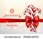 christmas background with bow... | Shutterstock .eps vector #506816035