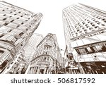 new york city hand drawn.... | Shutterstock .eps vector #506817592