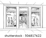fashion store hand drawn sketch ... | Shutterstock .eps vector #506817622