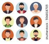 set of flat icons cartoon people | Shutterstock .eps vector #506818705