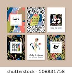 set of abstract creative cards. ... | Shutterstock .eps vector #506831758