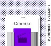 cinema media movies... | Shutterstock . vector #506833846