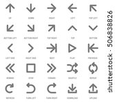 flat design vector icon set for ...