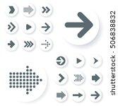 flat design arrow vector icon...