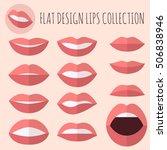 flat design lips showing... | Shutterstock .eps vector #506838946