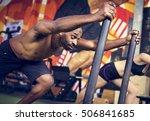 active people sport workout...   Shutterstock . vector #506841685