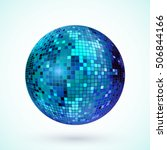Disco Ball Icon. Colorful Disc...